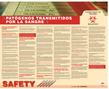 Poster Bloodbourne Pathogens Spanish 24X30