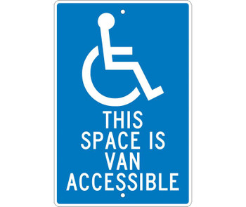 This Space Is Van Accessible 18X12 .063 Alum