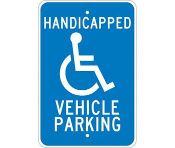 Handicapped Vehicle Parking 18X12 .080 Egp Ref Alum