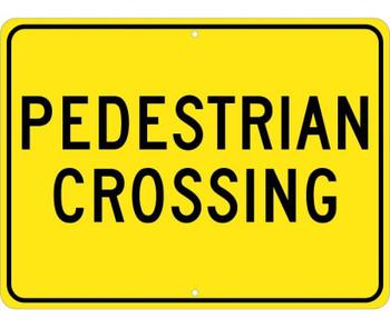 Pedestrian Crossing 18X24 .080 Hip Ref Alum
