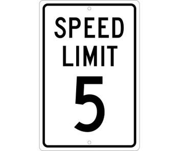 Speed Limit 5 18X12 .063 Alum