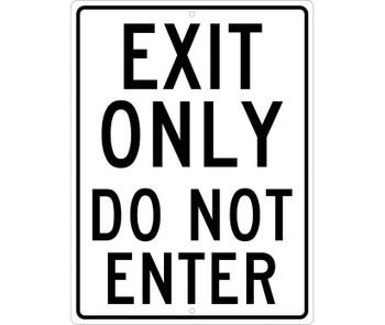 Exit Only Do Not Enter 24X18 .080 Hip Ref Alum