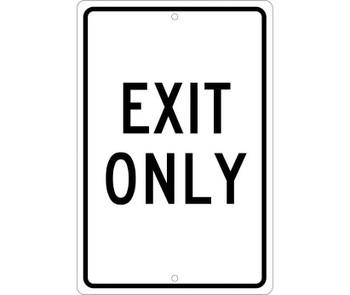 Exit Only 18X12 .080 Hip Ref Alum