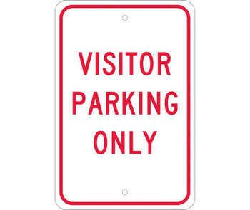 Visitor Parking Only 18X12 .080 Egp Ref Alum