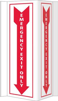 Visi Emergency Exit Only 16X8.75,Rigid Vinyl