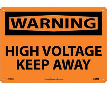 Warning High Voltage Keep Away 10X14 Rigid Plastic