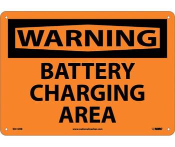 Warning Battery Charging Area 10X14 Rigid Plastic