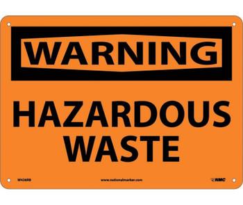 Warning Hazardous Waste 10X14 Rigid Plastic