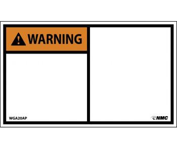 Warning Blank 3X5 Ps Vinyl 5/Pk