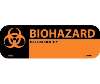 """Labels Biohazard Hazard Identity 1"""" X 3"""" Ps Paper 500/Rl"""
