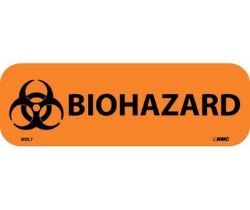Labels Biohazard 1X3 Ps Paper 500/Rl