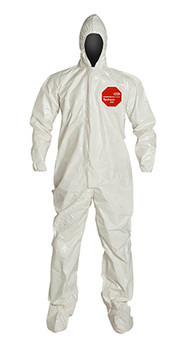 DuPont Tychem® 4000 White Coverall - SL122T WH BN