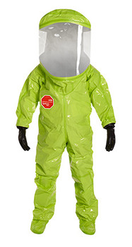 DuPont Tychem® 10000 Lime Yellow Coverall - TK555T LY BUTYL