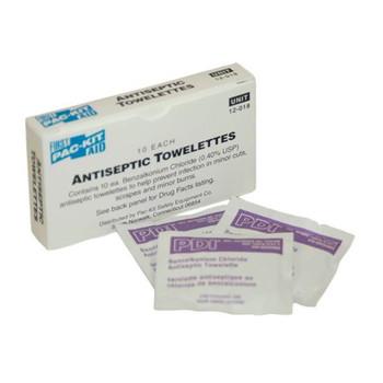 BZK Chloride Antiseptic Towelettes (10/Box) - 12018