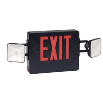 Combination Red Exit/Lighting Unit, Black - 137