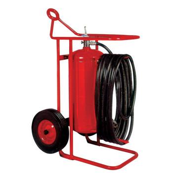 Badger 125 lb Wheeled Stored Pressure Purple K Extinguisher, 50' Hose - 684