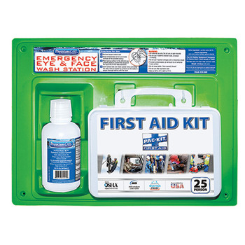 First Aid Kit & Eyewash Station, 16 oz  - 24500