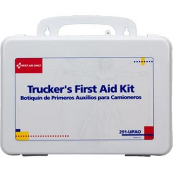 16-Unit, 88-Piece Trucker's First Aid Kit (Plastic) - 291UFAO