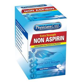 Non-Aspirin Acetaminophen Pain Reliever, 2 Pkg/125 ea - 40800