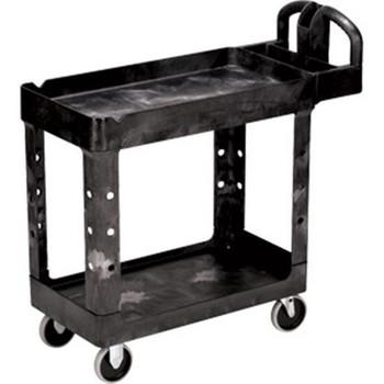 """Rubbermaid Heavy-Duty Utility/Service Cart, 45 1/4""""L x 33 1/4""""H x 25 7/8""""W - 452088BK"""