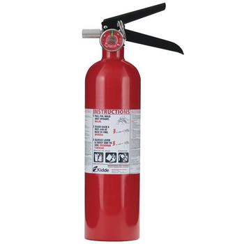 Kidde 2.5 lb ABC Automotive FC110M Extinguisher w/ Plastic Bracket w/ Metal Strap - 466423K