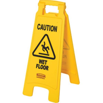 """""""WET FLOOR"""" Safety Sign - 611277YL"""