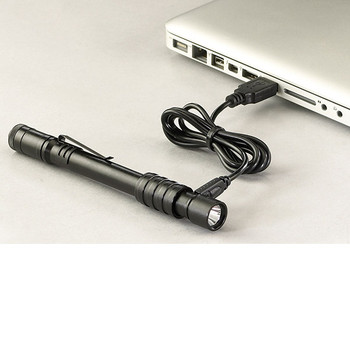 Stylus Pro™ USB Penlight, w/ 120 VAC Adapter, USB Cord, & Nylon Holster - 66133