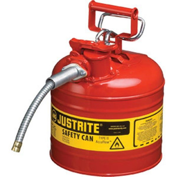 """Type II Safety Can, 2 gal, 5/8"""" Hose, Red - 7220120"""