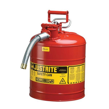 """Type II Safety Can, 5 gal, 5/8"""" Hose, Red - 7250120"""