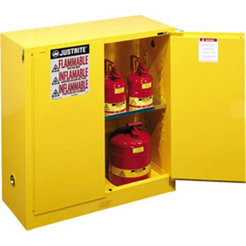 """Sure-Grip® EX Safety Cabinets w/ Self-Closing Doors, 30 gal, 44""""H x 43""""W x 18""""D - 893020"""