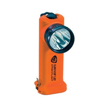 Survivor® LED Flashlight, AC/DC w/ Steady Charger, Orange - 90503