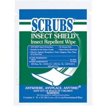Scrubs® Insect Shield™ Insect Repellent Wipes - 91401