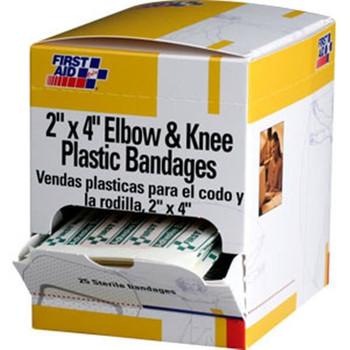 "Elbow & Knee Plastic Bandage, 2"" x 4"" (25/Box) - H109"