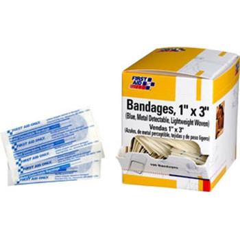 "Metal Detectable Light Woven Bandage, 1"" x 3"", 100/Box - H175"