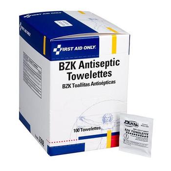 BZK Antiseptic Towelettes, 100/Box - J308