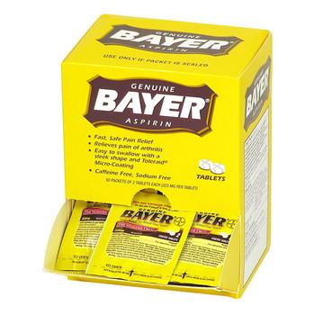 Bayer® Aspirin, 2 Pkg/50 ea - M4070
