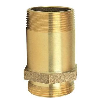 "Pin Rack Nipple, 1 1/2"" NPT x NST, Brass - N311"