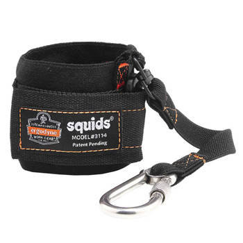Ergodyne Squids 3114  Black Pull-On Wrist Lanyard with Carabiner-3lbs