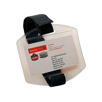 Ergodyne Squids 3386  Black Arm Band ID/Badge Holder HV