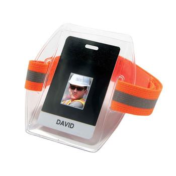 Ergodyne Squids 3386  Hi-Vis Orange Arm Band ID/Badge Holder HV