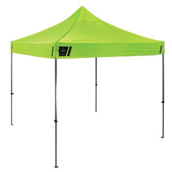 Ergodyne Shax 6000 10' x 10' Lime Heavy-Duty Commercial Pop-Up Tent
