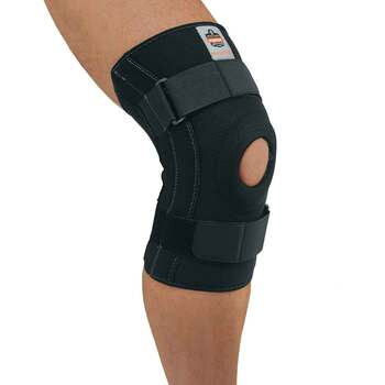 Ergodyne ProFlex 620 2XL Black Knee Sleeve w/Open Patella/Spiral Stays