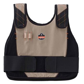 Ergodyne Chill-Its 6225 S/M Khaki Phase Change Premium Cooling Vest Hi Vis