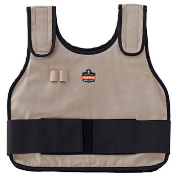 Ergodyne Chill-Its 6230 S/M Khaki Phase Change Cooling Vest & Pack