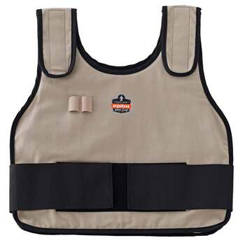 Ergodyne Chill-Its 6230 L/XL Khaki Phase Change Cooling Vest & Pack