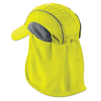Ergodyne Chill-Its 6650  Lime High Performance Hat w/ Neck Shade