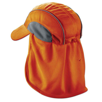 Ergodyne Chill-Its 6650  Orange High Performance Hat w/ Neck Shade