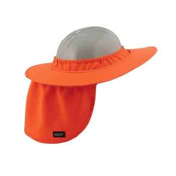 Ergodyne Chill-Its 6660  Orange Hard Hat Brim with Shade