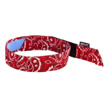 Ergodyne Chill-Its 6705CT  Red Western Evap. Cooling Bandana  w/CT - H & L