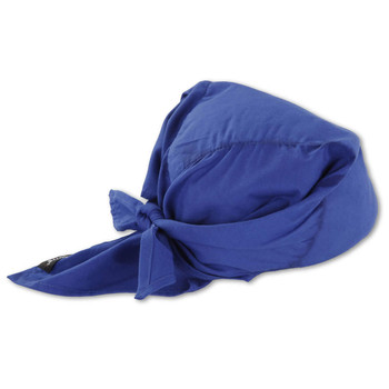 Ergodyne Chill-Its 6710CT  Solid Blue Evap. Cooling Triangle Hat w/CT